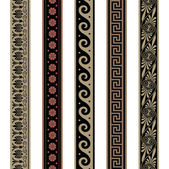 Greek border ornaments. Seamless decoration patterns.