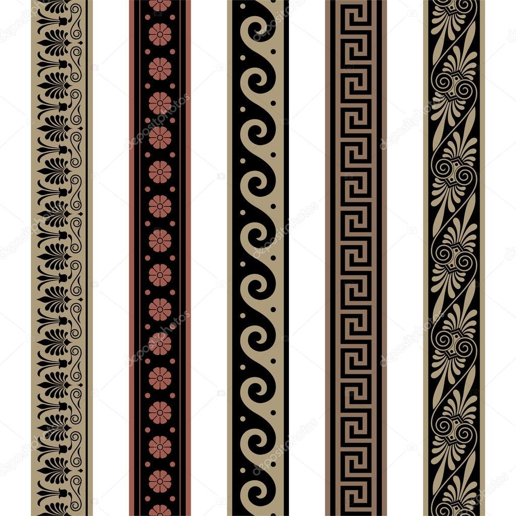 de la frontière grecque. motifs de décoration sans soudure — Image ...