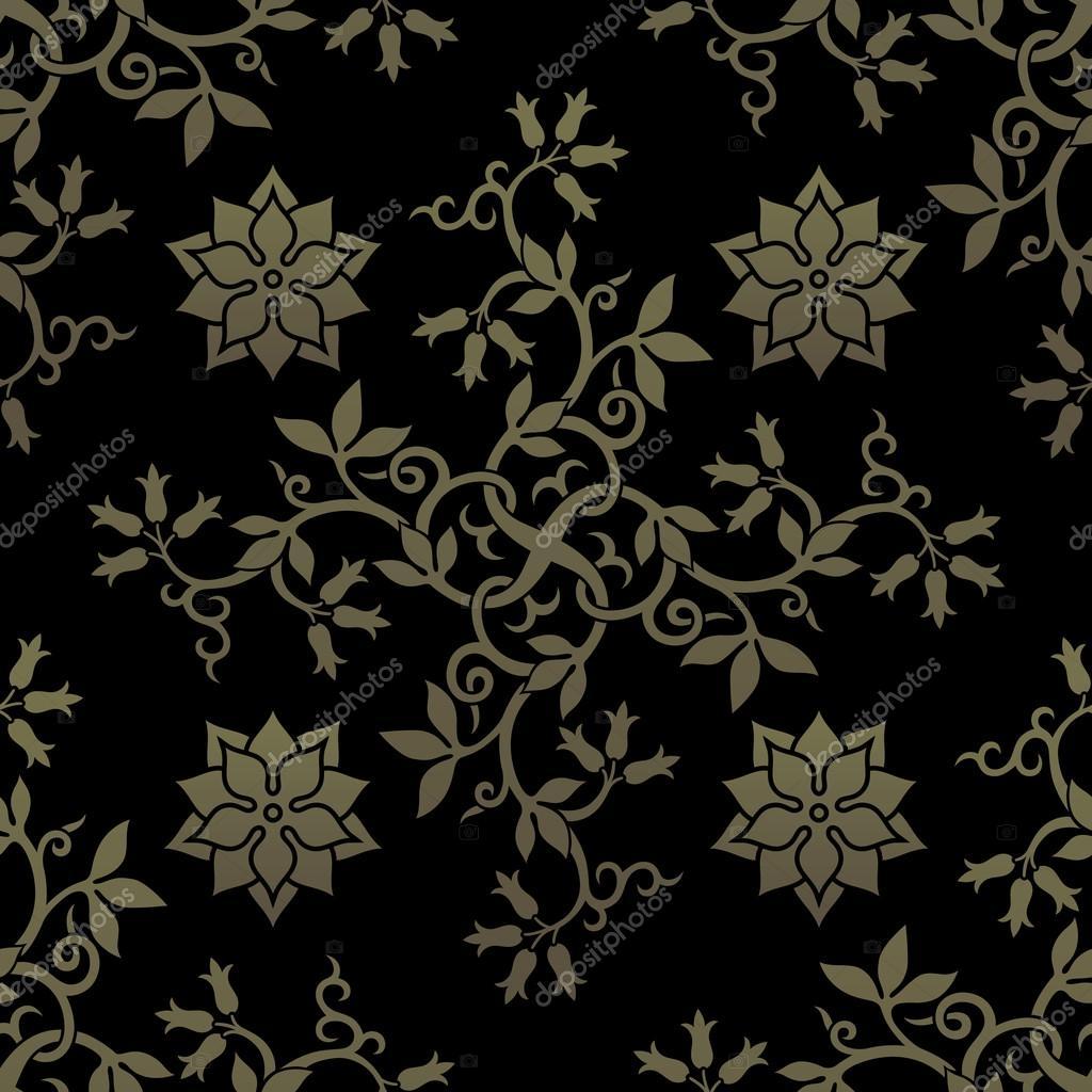 Golden seamless pattern.