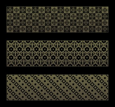 Gold seamless pattern with royal elements in a gothic style.