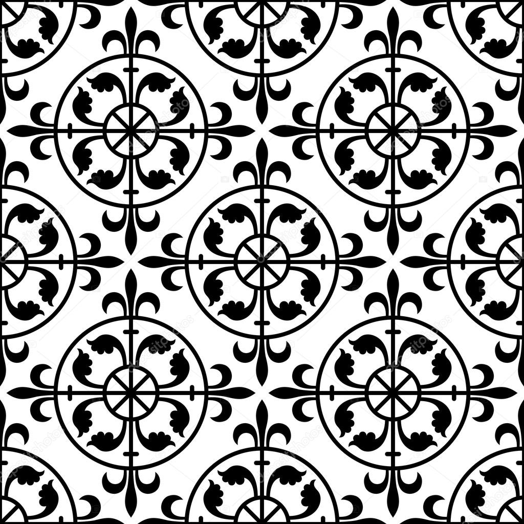 Gothic Seamless Pattern Stock Vector