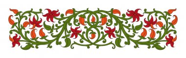 Floral ornament in medieval style.