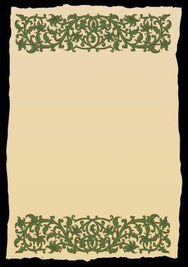 Template book page in a medieval style.