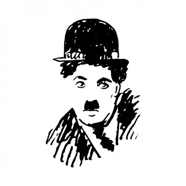Portrait of Charlie Chaplin.
