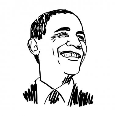 Portrait of the President of USA Barack Obama.