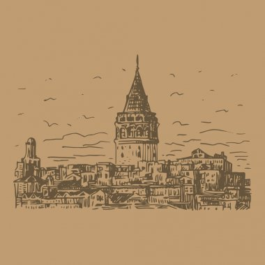 The Galata Tower, Istanbul, Turkey.