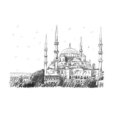 """Картина, постер, плакат, фотообои """"Голубая мечеть, Стамбул, Турция."""", артикул 94198262"""