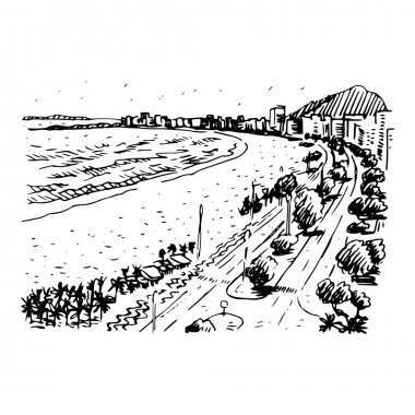 Vector freehand pencil sketch. clip art vector