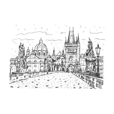 View from Charles Bridge, Prague, Czech Republic.