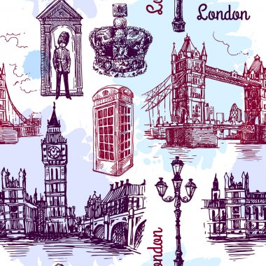 london sketch illustration