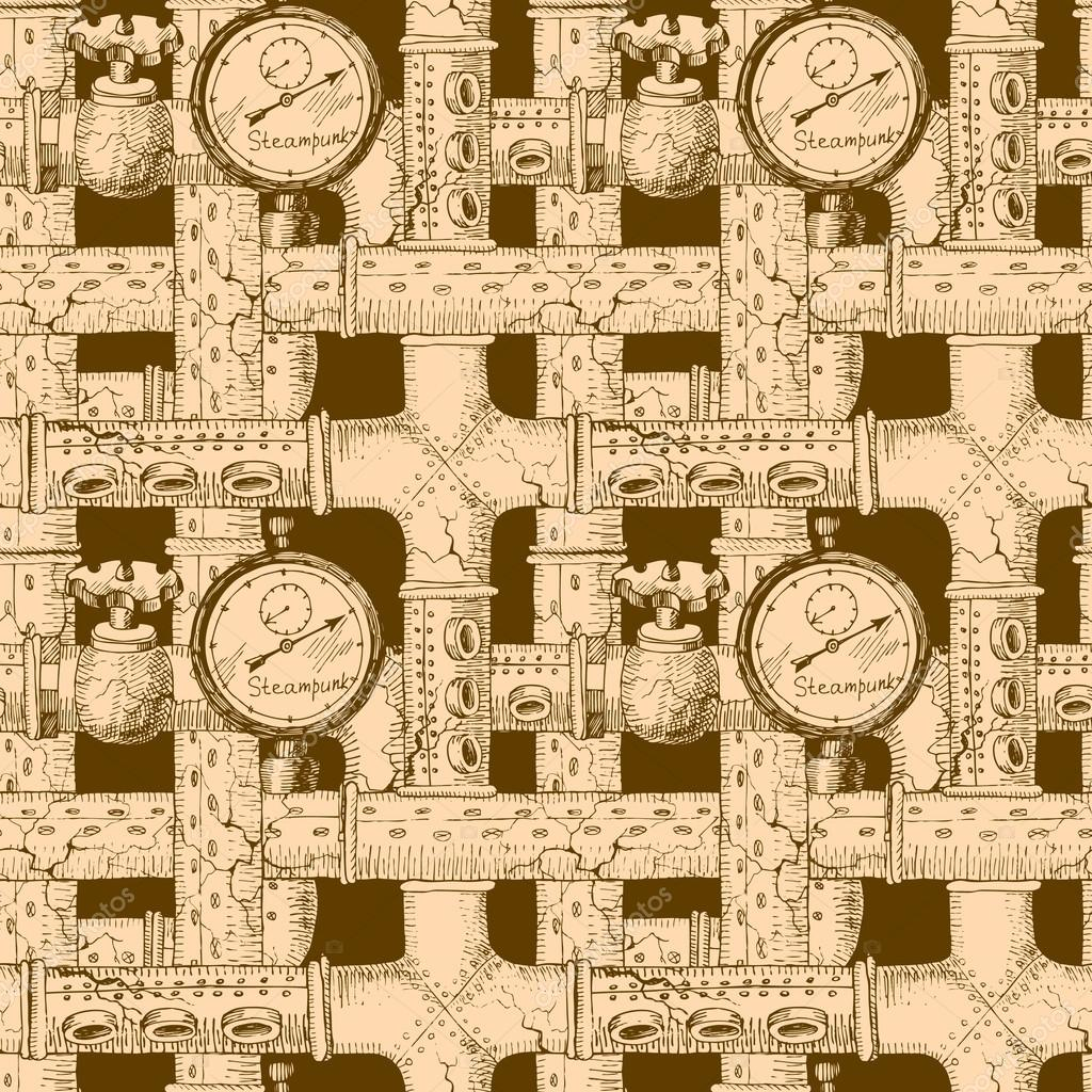 seamless pattern Steampunk