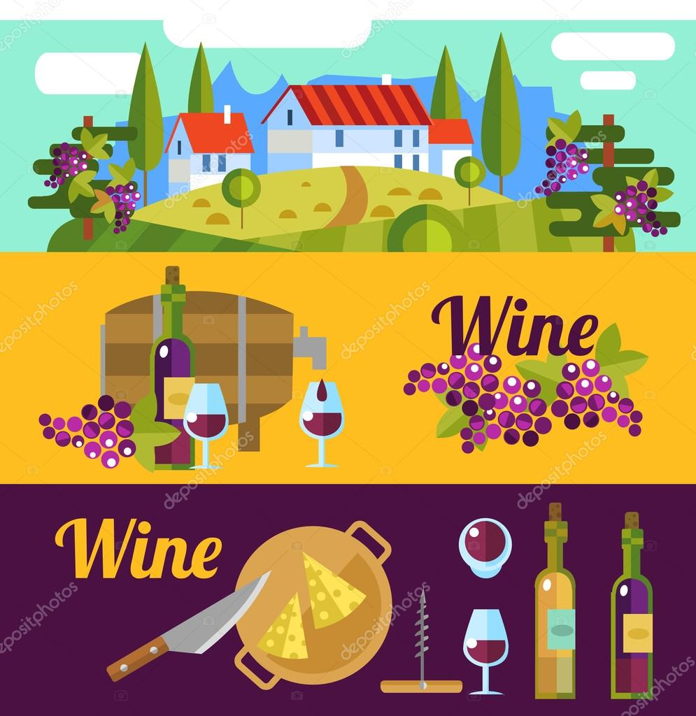 Tuscany and wine elements.
