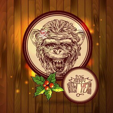 sketch portret of monkey