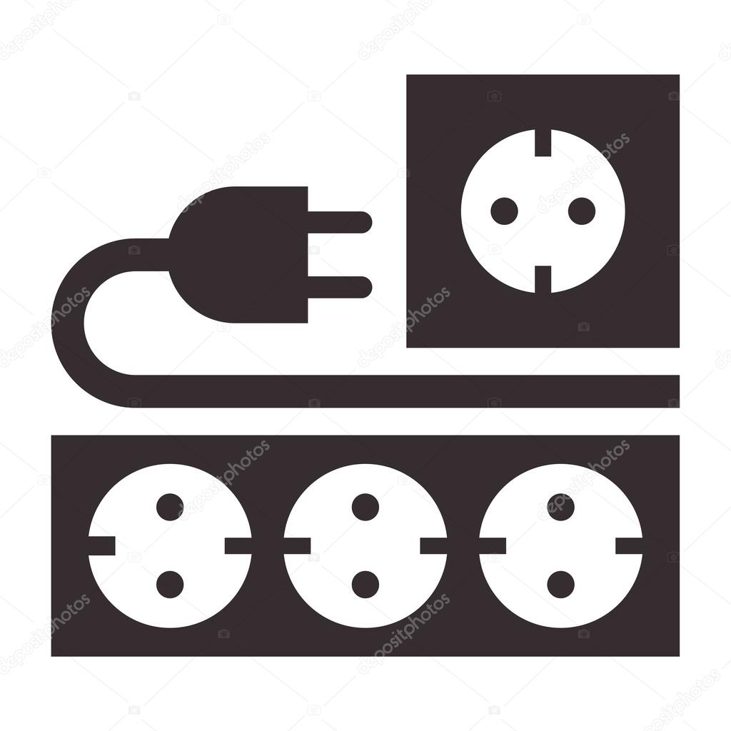 Power Outlet Plug And Socket Sign Stock Vector 56045251