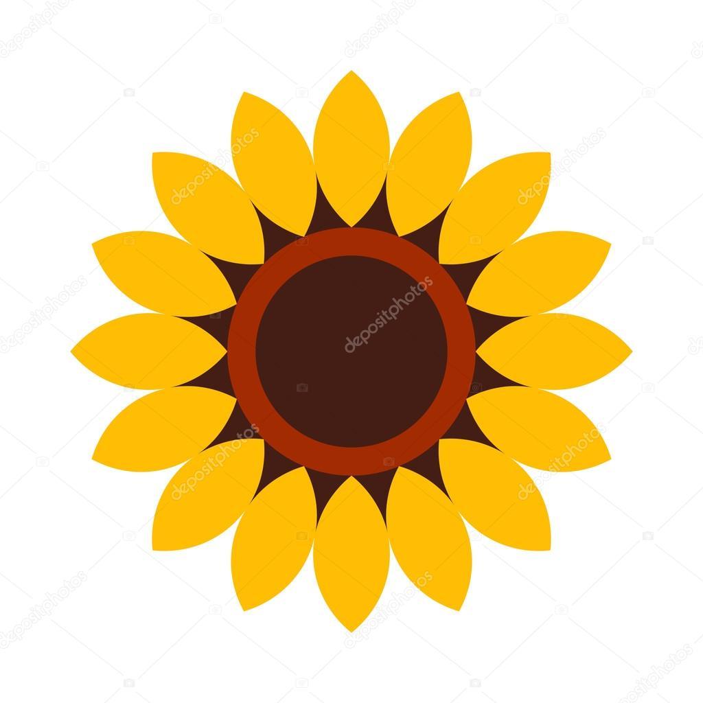 Sunflower Flower Icon Stock Vector Nikolae 63227733