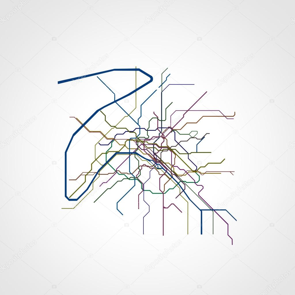 Paris Metro Map Download.3d Illustration Of Paris Metro Map Stock Photo C Homeworks255
