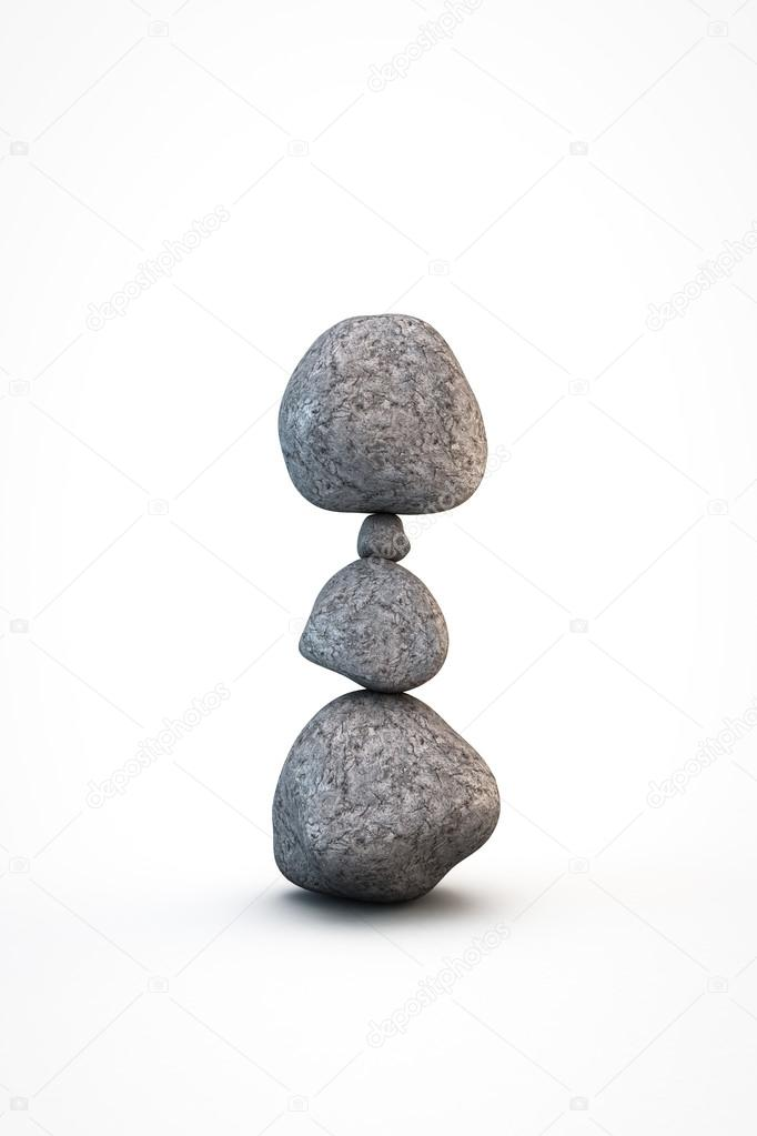 piedras zen aisladas sobre fondo blanco foto de homeworks255 - Piedras Zen