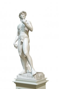 david statue isolated on white background