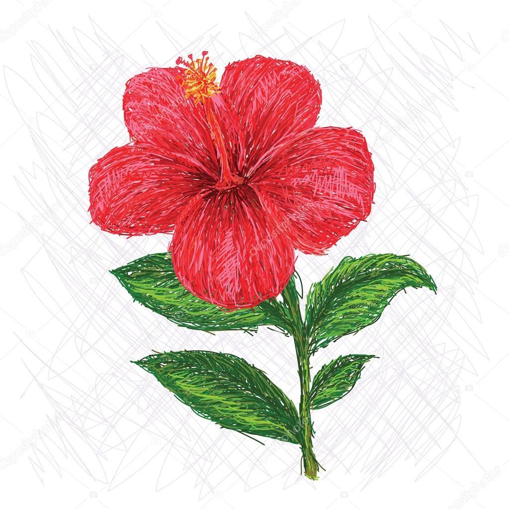Hibiscus stock vector jomaplaon 56940689 unique style illustration of hibiscus flower scientific name hibiscus rosa sinensis vector by jomaplaon izmirmasajfo