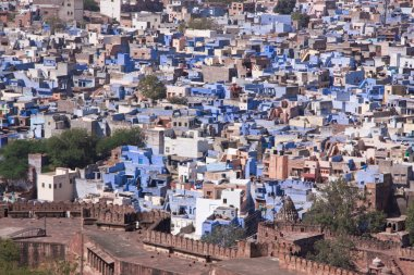 The Blue City of Jodhpur in Rajasthan, India.
