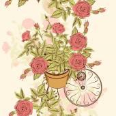 Bezešvé tapety vzor s ručně tažené růže