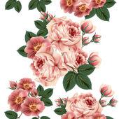 Fotografie Bezešvé tapety vzor s růží v retro stylu