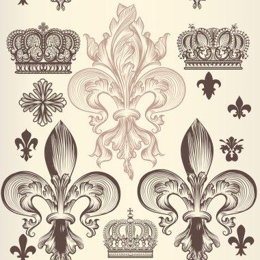 Retro ornamental seamless wallpaper pattern