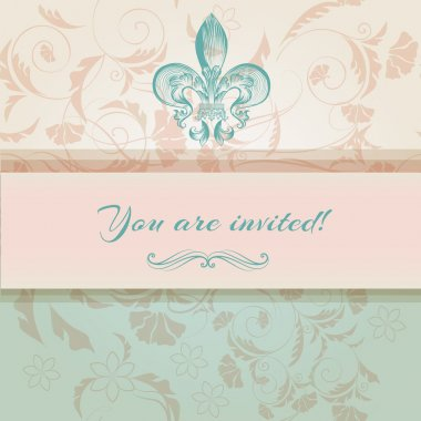 Beautiful you are invited card in royal style clip art vector