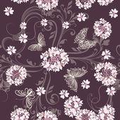 vektor bezešvé vzor s květinami