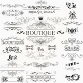 Fotografie Set of vector calligraphic elements and page decorations