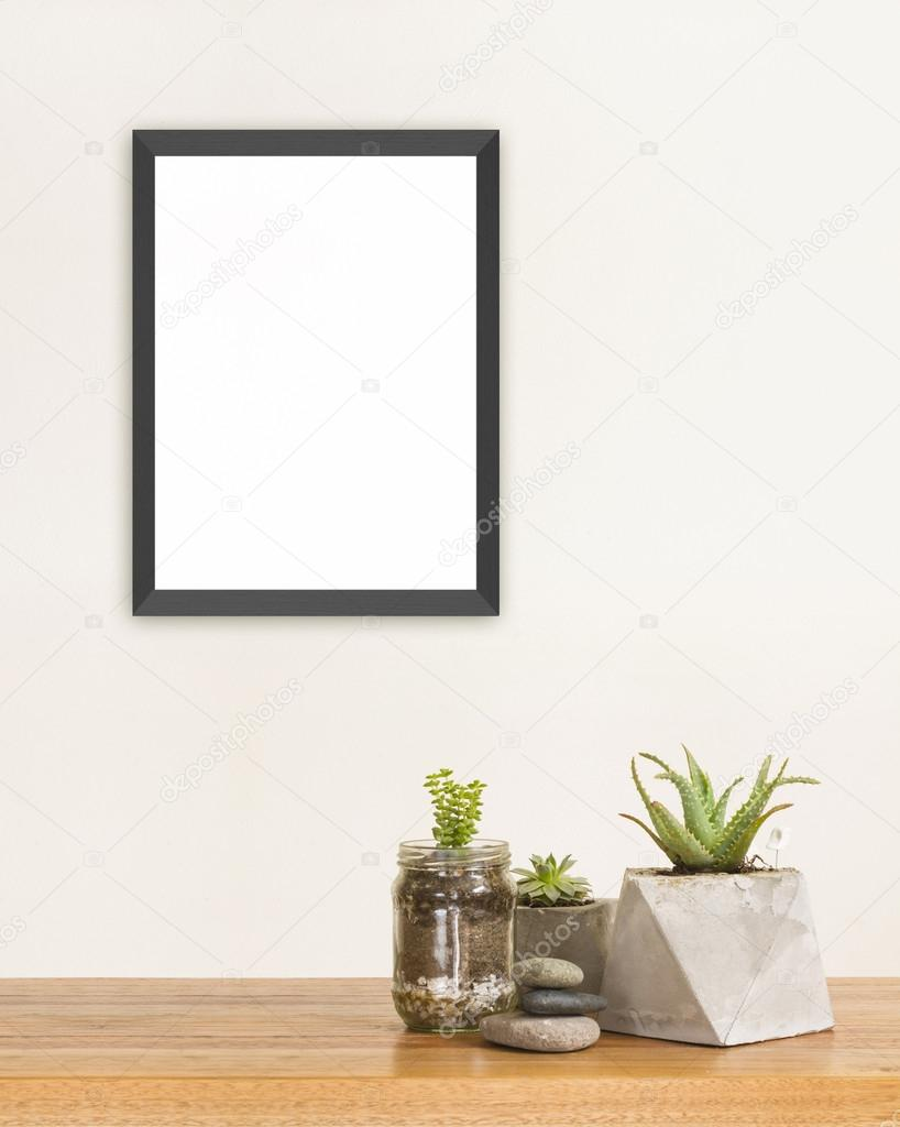 Succulent and frame mockup — Stock Photo © oculo #109184744