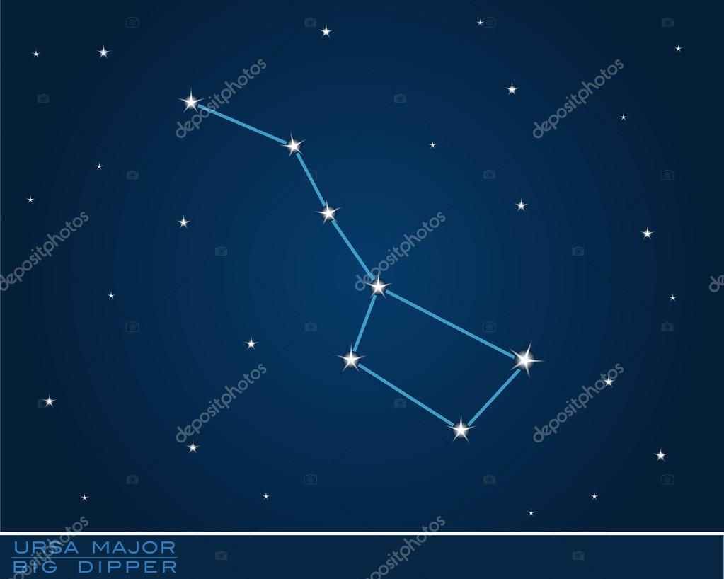 Ursa major dark blue