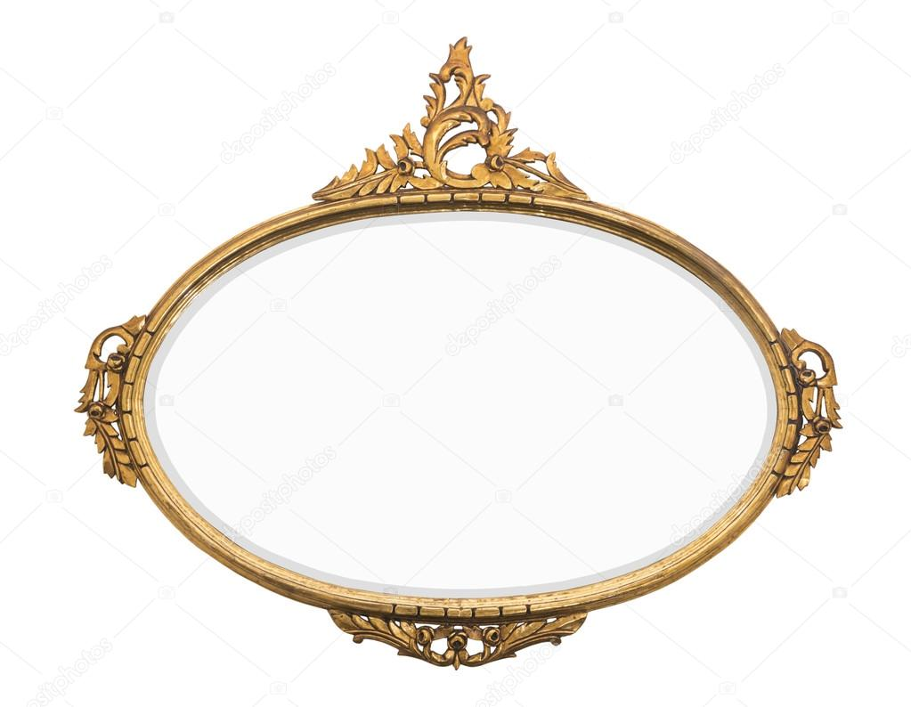 vintage gold mirror — Stock Photo © oculo #120861718