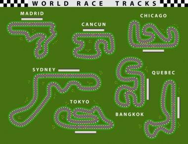 Race car track