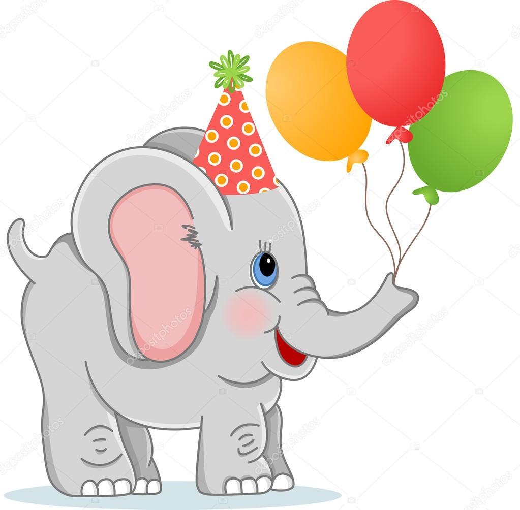 Verjaardag Olifant Met Ballonnen Stockvector C Socris79 103606326