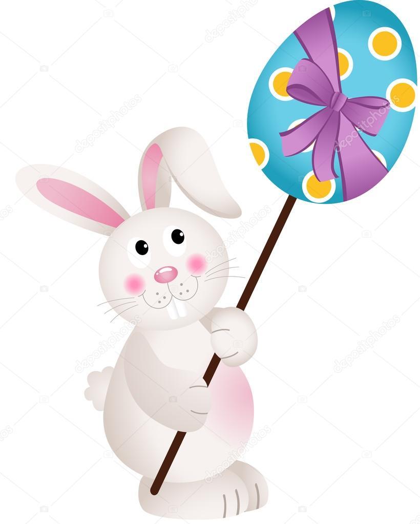 Lindo conejito lleva huevo de Pascua — Vector de stock © socris79 ...