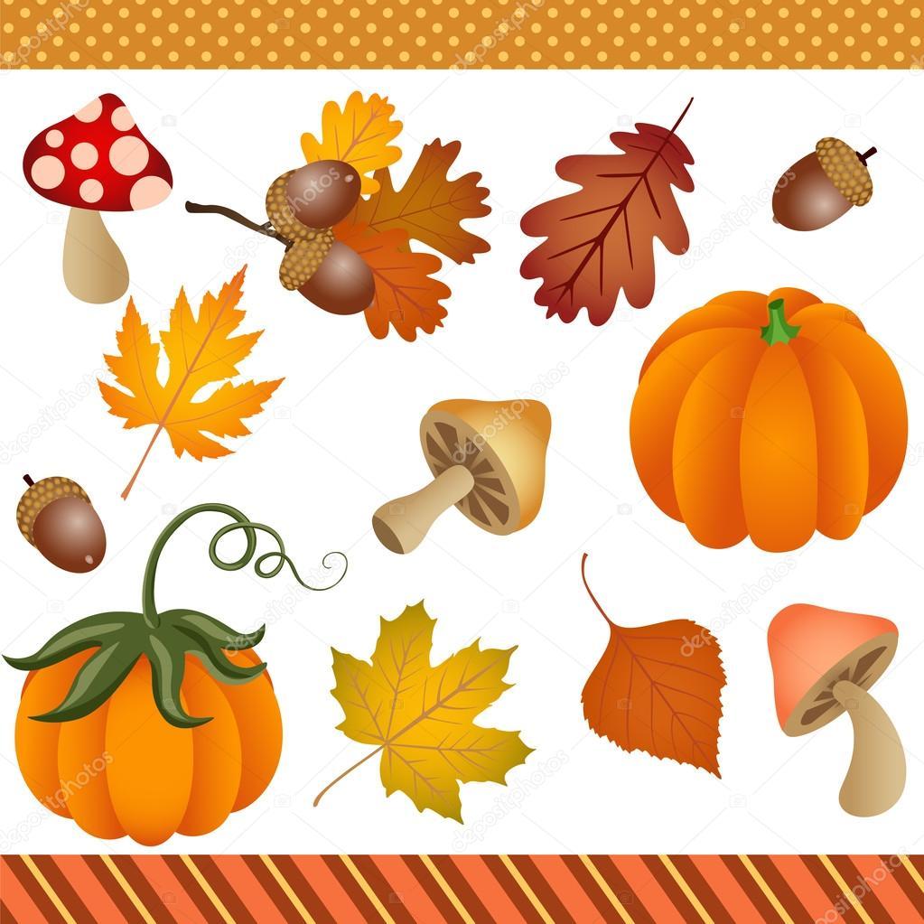 Fallen Herbst Clipart Digital Stockvektor Socris79 87109864