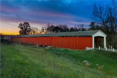 Medora Covered Bridge at Sunset