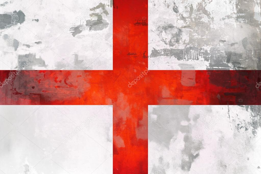 fd378089 England ( English ) flag design with texture element. St George red cross  on white