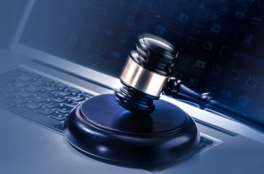Law legal tech cyber web concept image