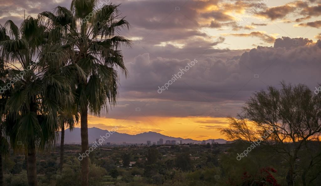 Sunset landscape,Phoenix, Arizona,USA