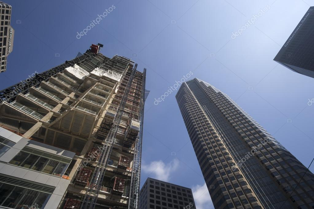 LOS ANGELES,CA, JUNE 2, 1015   the New Landmark Tower, Wilshire Grand, set to become LA's Tallest skyscraper.