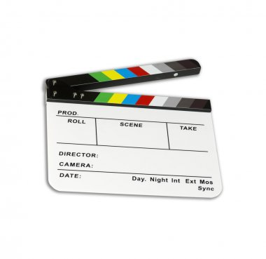Independent movie clapper board - color checker - ( modified )