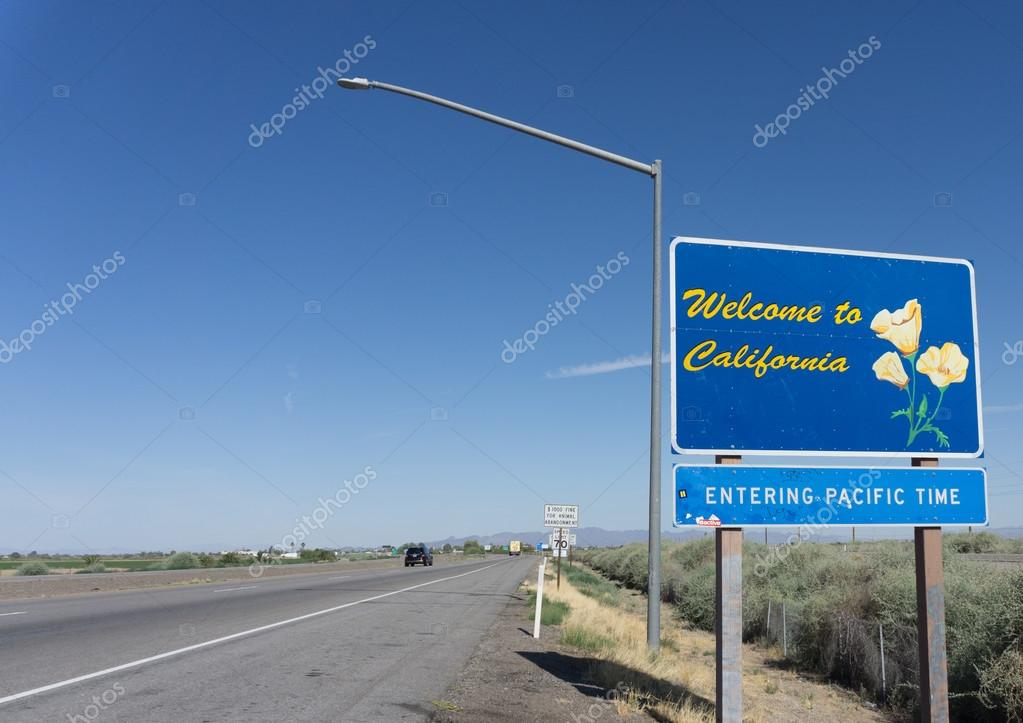 Welcome to California Highway signUSA I10 Heading