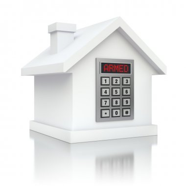Armed house security alarm