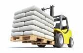 Photo Forklift with white sacks