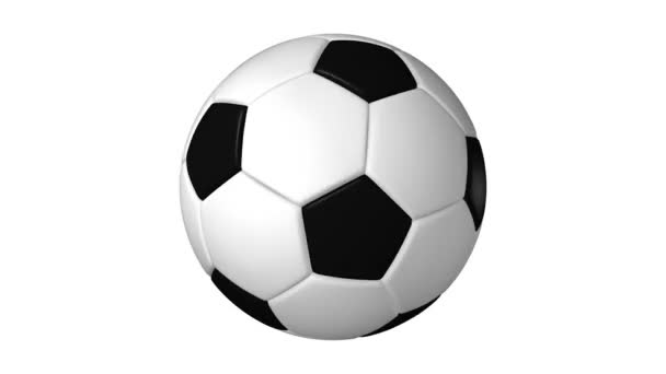 Fotbalový míč otáčení