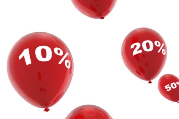 Koncepce slevy s padajícími balónky