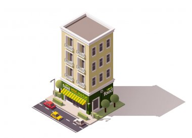 Vector isometric mini market