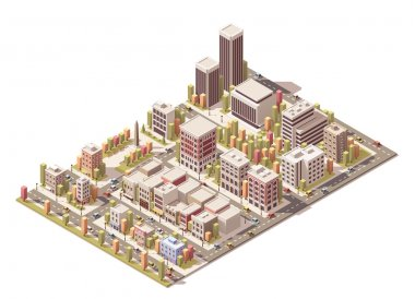 Vector isometric city